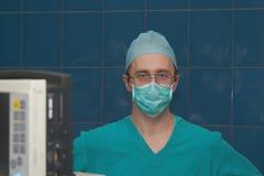 Surgeon. The surgeon prepares for operation Stock Photo