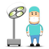 Surgeon. A surgeon standing next theatre light Stock Photos