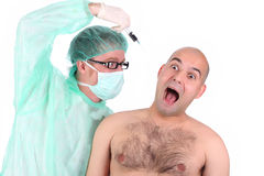 Surgeon And Patient Royalty Free Stock Image