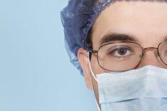 Surgeon Close Up. Male Surgeon Close Up before surgery Stock Image