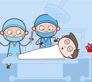 Surgeon Completing Operation Process Vector Concept Royalty Free Stock Images