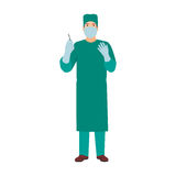 Surgeon doctor character vector isolated Royalty Free Stock Photos