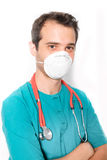 Surgeon doctor wearing a mask Stock Photo