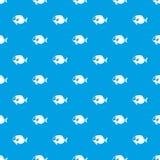 Surgeon fish pattern seamless blue. Surgeon fish pattern repeat seamless in blue color for any design. Vector geometric illustration Royalty Free Stock Photos