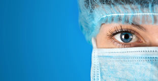 Surgeon gazing hospital close up shot Royalty Free Stock Photo
