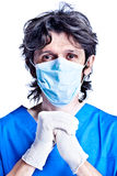 Surgeon in gloves Stock Photography