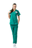 surgeon in green dress Stock Image