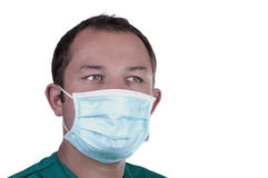 Surgeon with his mask Stock Photo