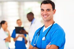 Surgeon in hospital. Smart medical surgeon portrait in hospital Stock Photos