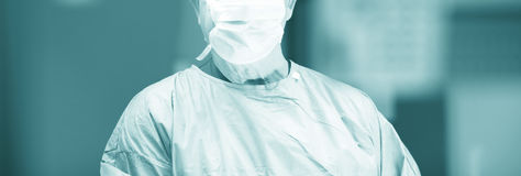 Surgeon in hospital surgery Stock Images