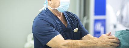 Surgeon in hospital surgery Royalty Free Stock Image