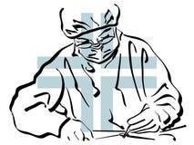 Surgeon illustration royalty free stock images