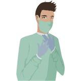 Surgeon. Image of a Surgeon on the job Stock Photos