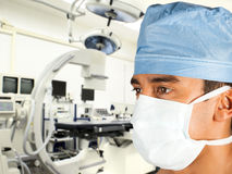 Surgeon in modern operation room royalty free stock images