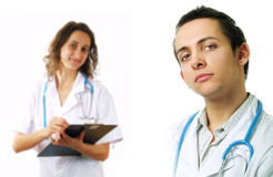 Surgeon and nurse Royalty Free Stock Images