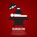 Surgeon Operate On Patient Sign. Vector Illustration Stock Photo