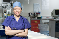 Surgeon in operating theatre Royalty Free Stock Images