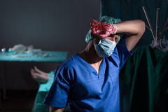 Surgeon after operation Stock Image