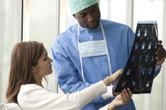 Surgeon and Patient Stock Photos