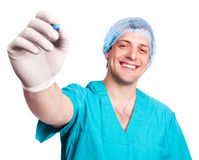 Surgeon with a pen Stock Images