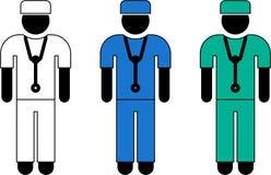 Surgeon pictogram Stock Photos