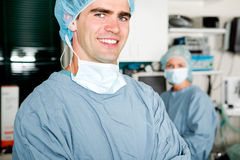 Surgeon Portrait. A portrait of a surgeon in a small operating room Stock Photography