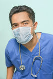 Surgeon portrait with mask Royalty Free Stock Photo