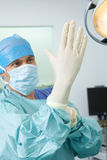 Surgeon preparing for operation Royalty Free Stock Photo