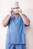 Surgeon in scrubs in scrubs Royalty Free Stock Photography