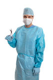 Surgeon with surgical instrument Royalty Free Stock Photos