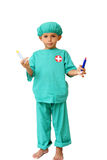 Surgeon with syringe stock images