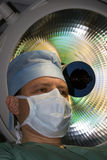 Surgeon under lamp Royalty Free Stock Photography