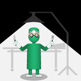 Surgeon under the light Royalty Free Stock Photo