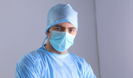 Surgeon in uniform close-up ready to step Stock Photography