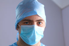 Surgeon in uniform close-up ready to step Royalty Free Stock Photos