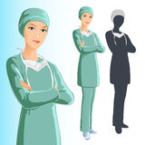 Surgeon (woman) Stock Images