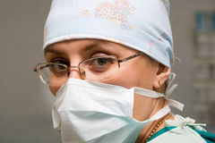 Surgeon woman Royalty Free Stock Photos