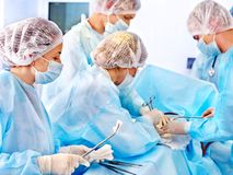 Surgeon at work in operating room. Royalty Free Stock Image