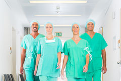 Surgeons in Hospital or clinic as team Royalty Free Stock Images