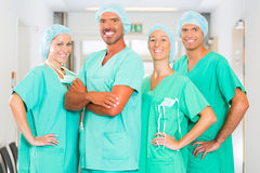 Surgeons in Hospital or clinic as team Stock Photo