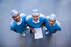 Surgeons with medical reports Stock Image