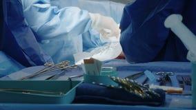 Surgeons during an open heart surgery