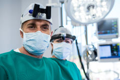 Surgeons in operation theater Royalty Free Stock Photography