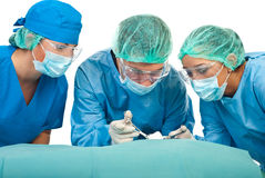 Surgeons in operations Royalty Free Stock Image