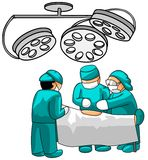 Surgeons in operative room Royalty Free Stock Images