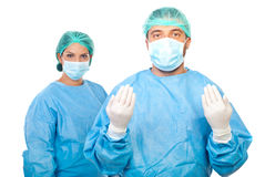 Surgeons team Stock Images