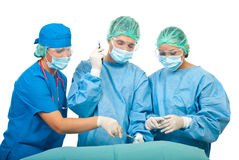 Surgeons team in operation royalty free stock image