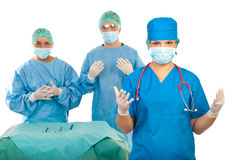 Surgeons team preparing for surgery royalty free stock photo