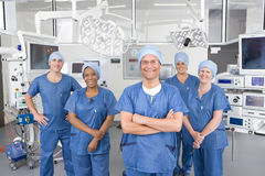 Surgeons working in hospital operating room Royalty Free Stock Photo