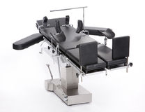 Surgery bed. Modern adjustable stainless surgery bed Royalty Free Stock Image